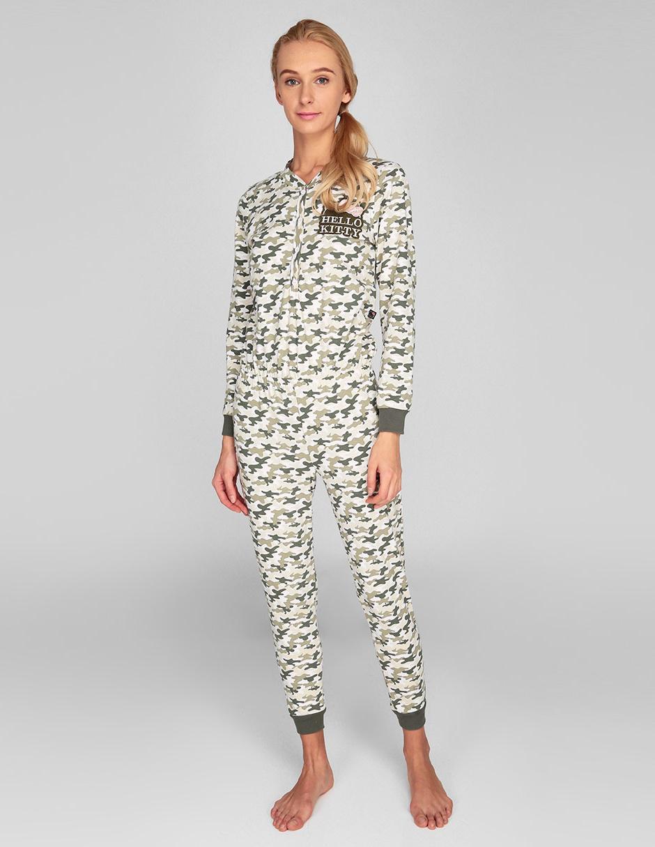 2acd07966 Jumpsuit pijama Hello Kitty verde con diseño gráfico